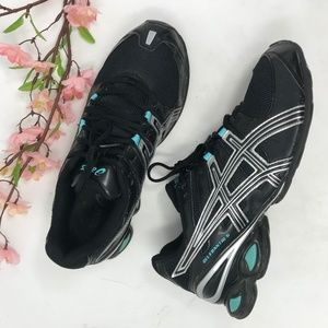 ASICS Gel Frantic 5 Black Blue Running Shoes 10